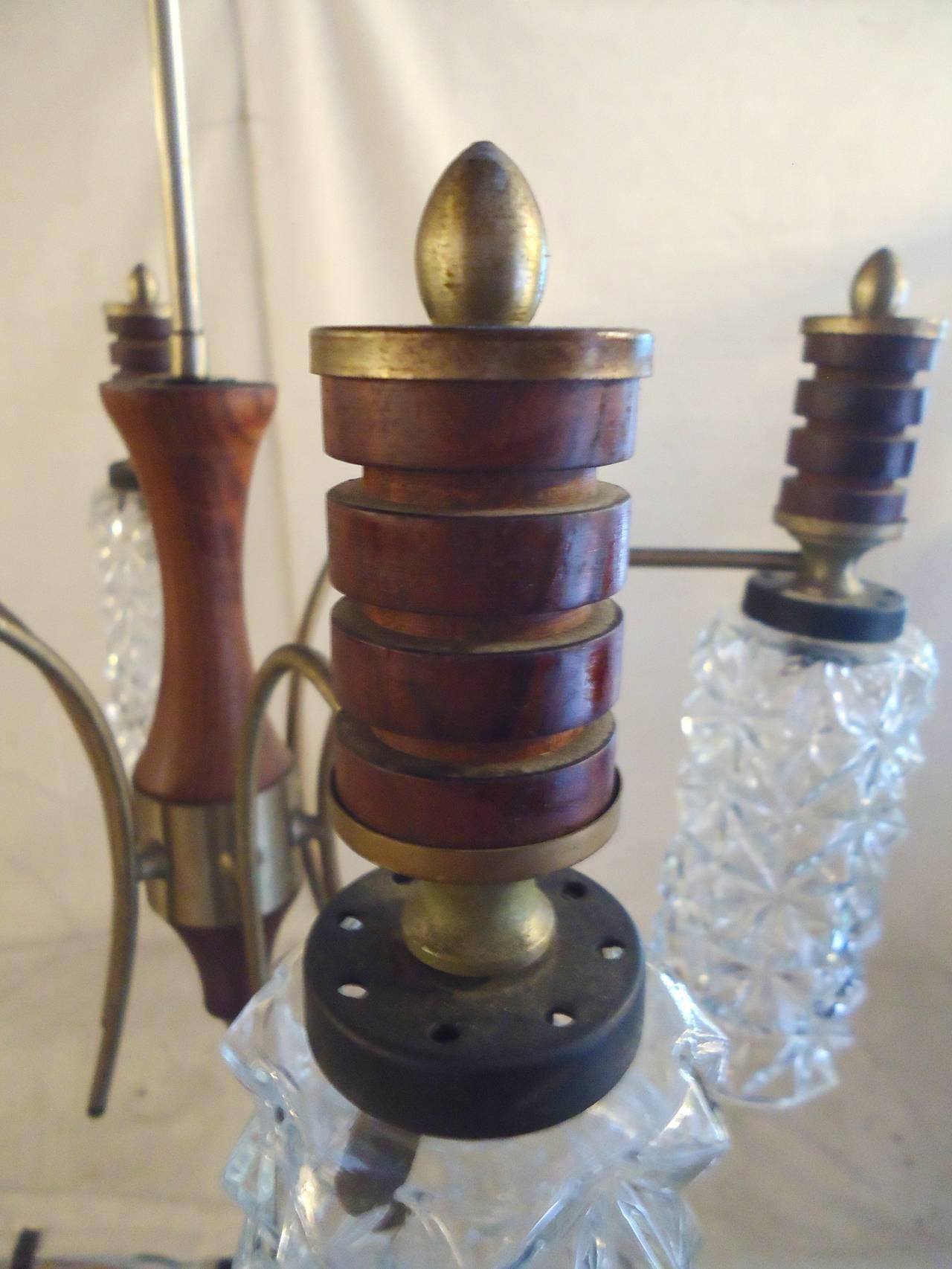 Cut Glass Chandelier For Sale 2