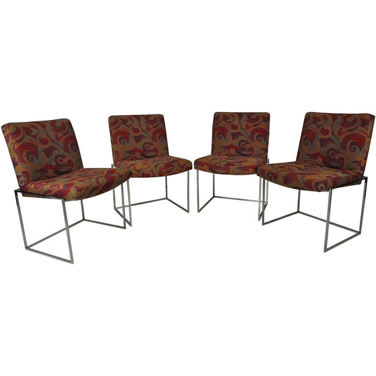 chrome frame dining chairs at 1stdibs