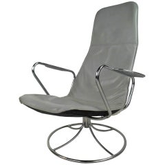 Vintage Modern Swivel Lounge Chair