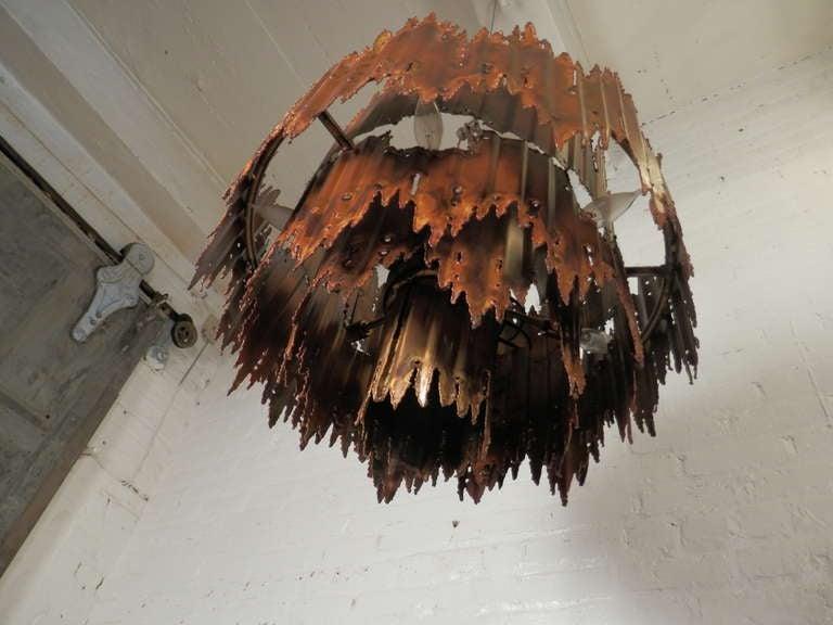 Mid-Century Modern Spectacular Brutalist Lamp by Tom Greene For Sale