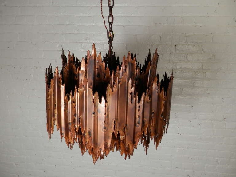 Spectacular Brutalist Lamp by Tom Greene In Good Condition For Sale In Brooklyn, NY