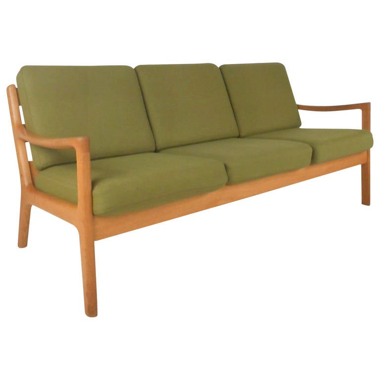 Ole Wanscher #166 Sofa for Cado in Senator Oak For Sale