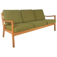 Ole Wanscher #166 Sofa for Cado in Senator Oak