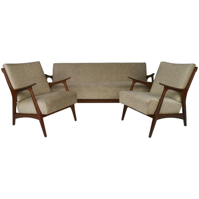 danish modern living room suite at 1stdibs. Black Bedroom Furniture Sets. Home Design Ideas