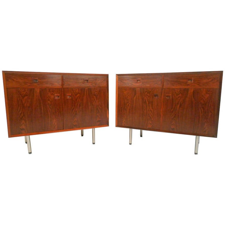 Pair of Danish Rosewood Cabinets