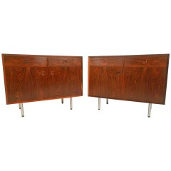 Matching Pair of Danish Rosewood Cabinets