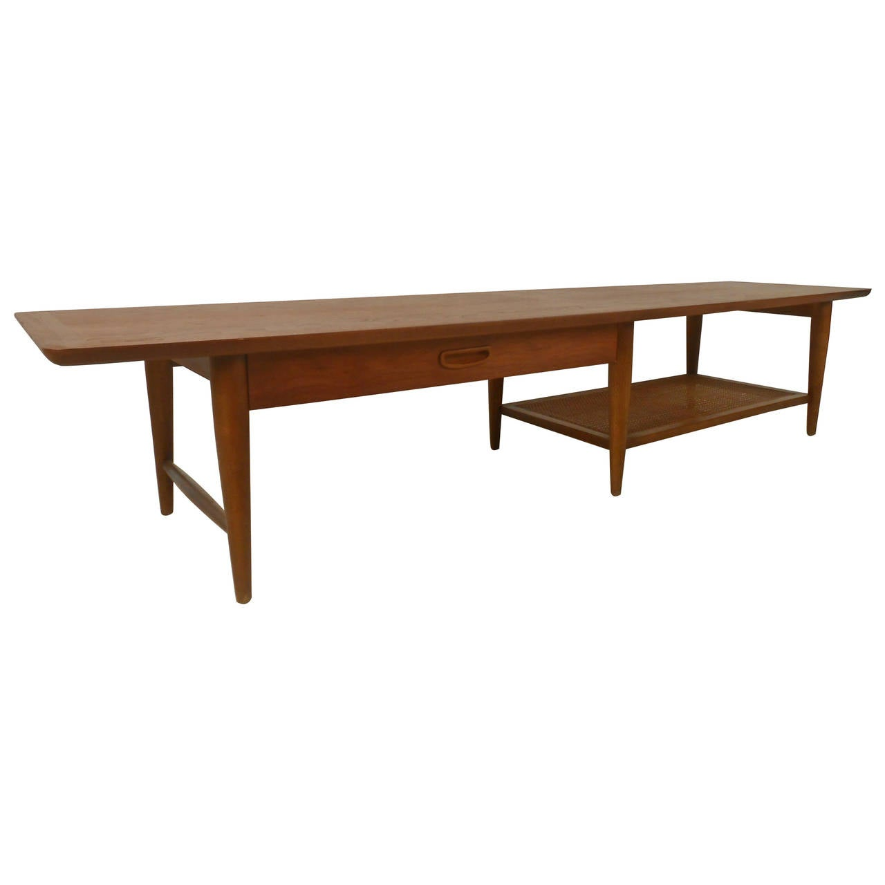 Lane Coffee Table with Drawer and Shelf