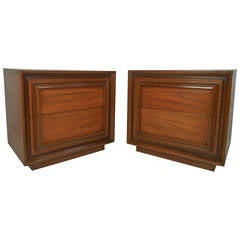 Pair of Mid-Century Two-Drawer Night Stands by J.B. Van Sciver