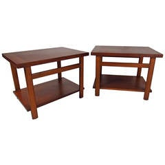 Pair of Mid-Century Modern Walnut End Tables by Lane