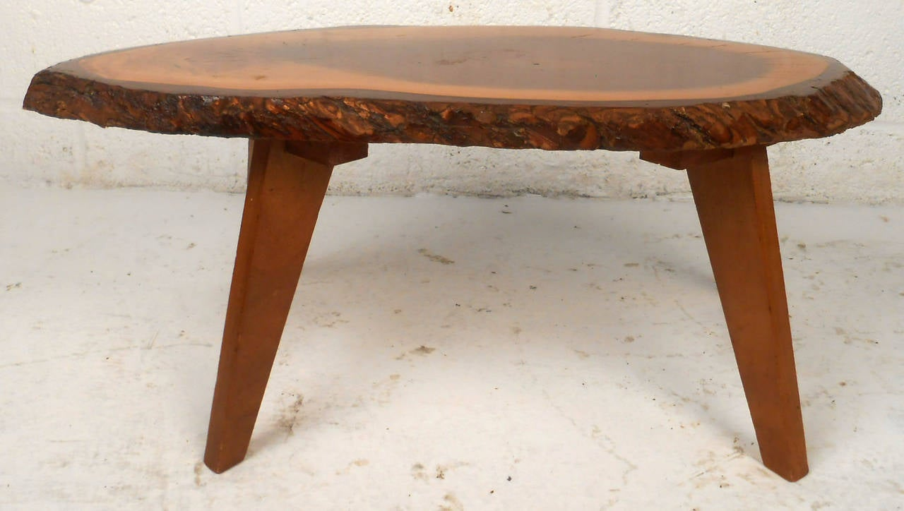 Vintage Rustic Live Edge Foot Stool For Sale At 1stdibs