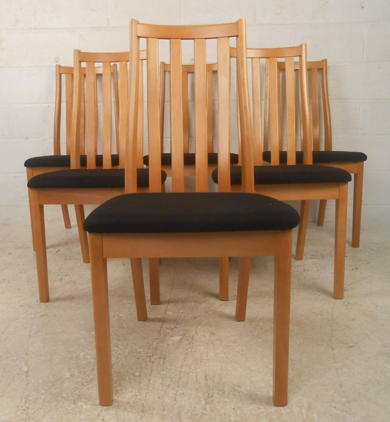 Six Danish Midcentury Dining Chairs Tangso Mobler