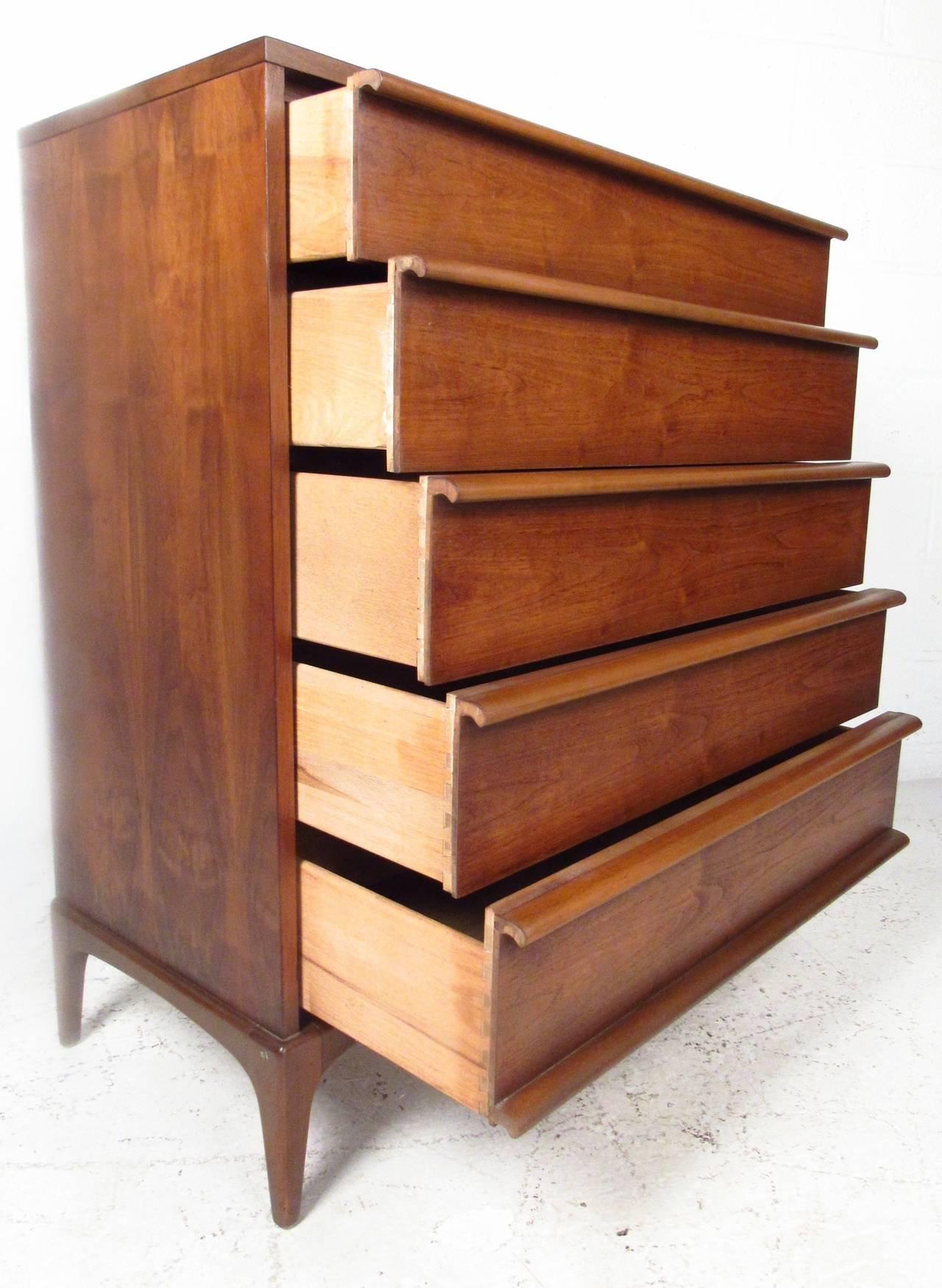 Mid-Century Walnut Highboy Dresser by Lane Furniture 4