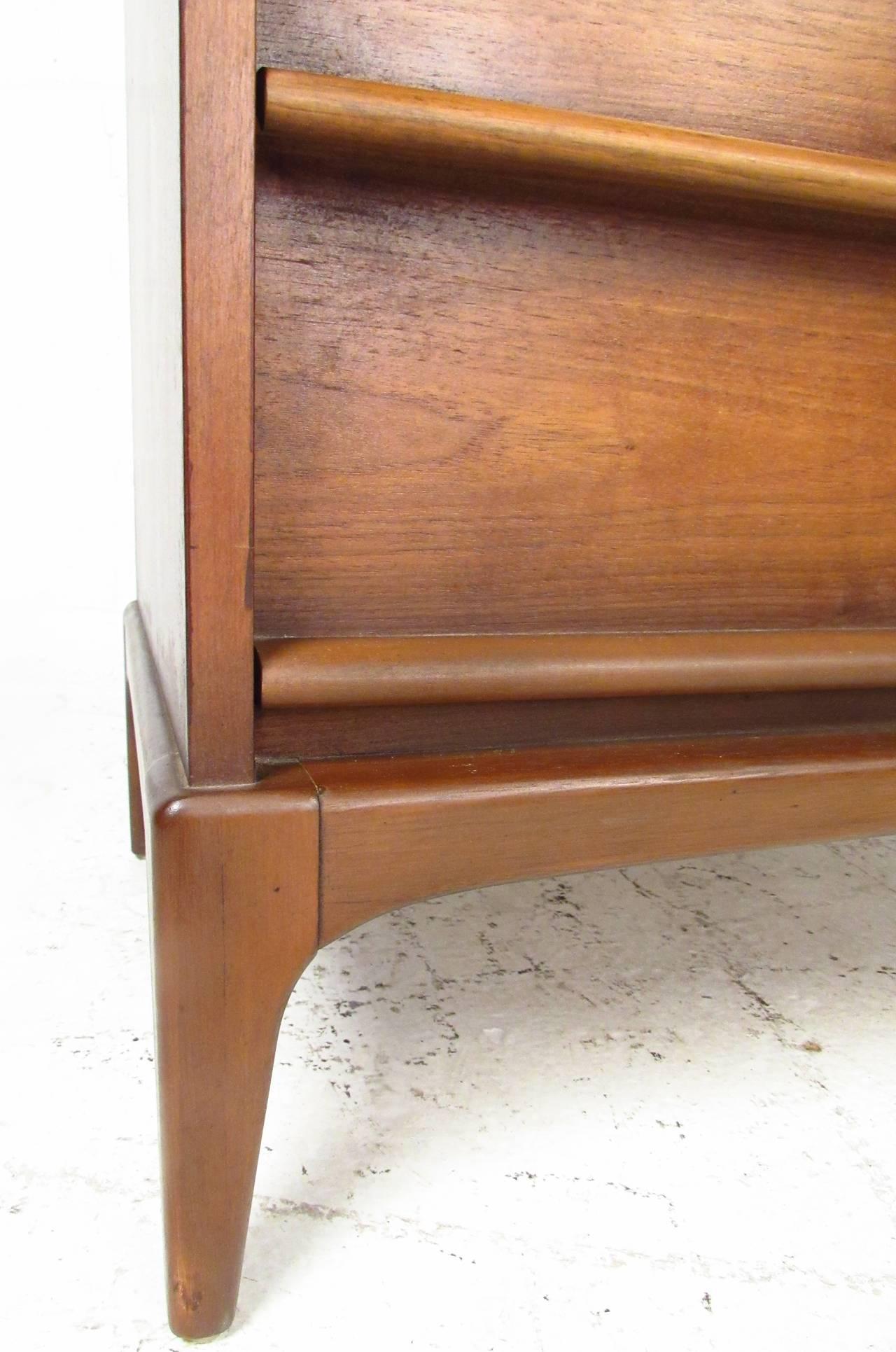 Mid-Century Walnut Highboy Dresser by Lane Furniture 8