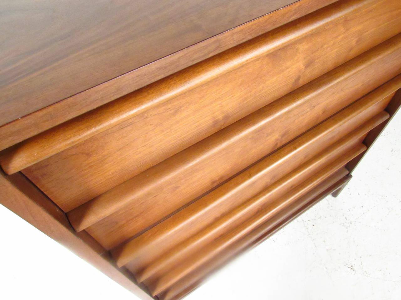 Mid-Century Walnut Highboy Dresser by Lane Furniture 5