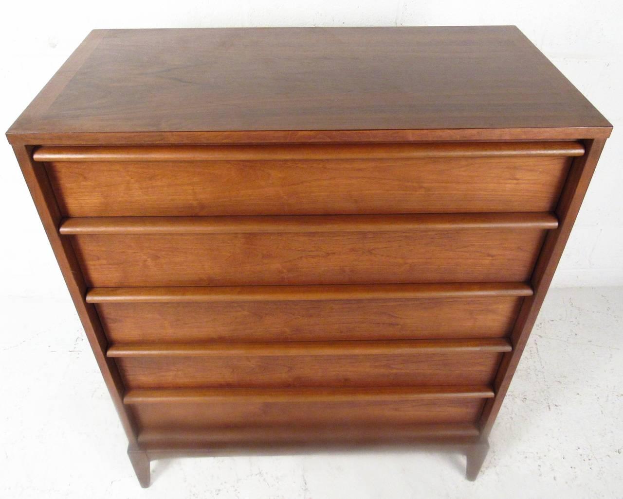 Mid-Century Walnut Highboy Dresser by Lane Furniture 7