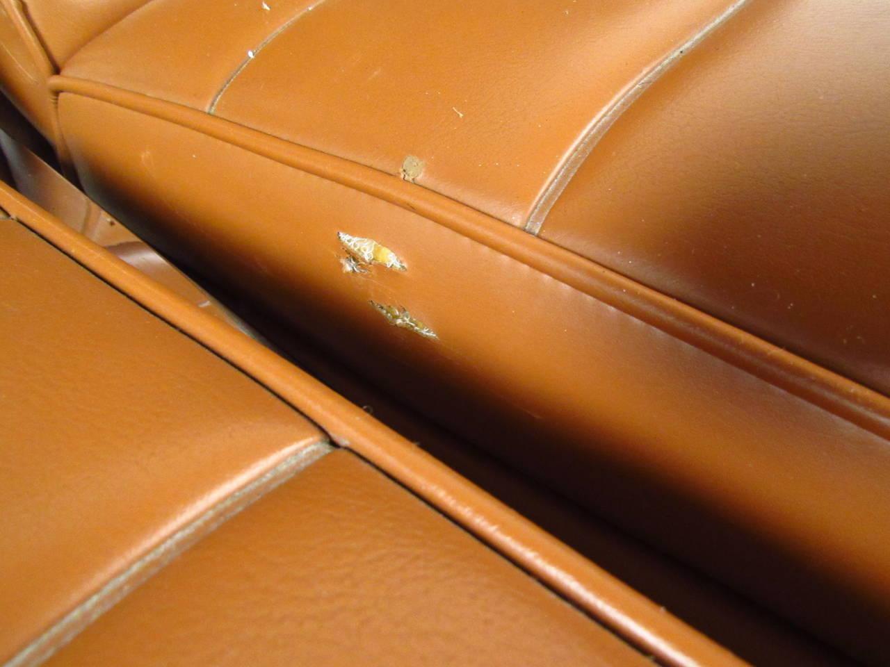 Midcentury Milo Baughman Style Three-Seat Sofa 6