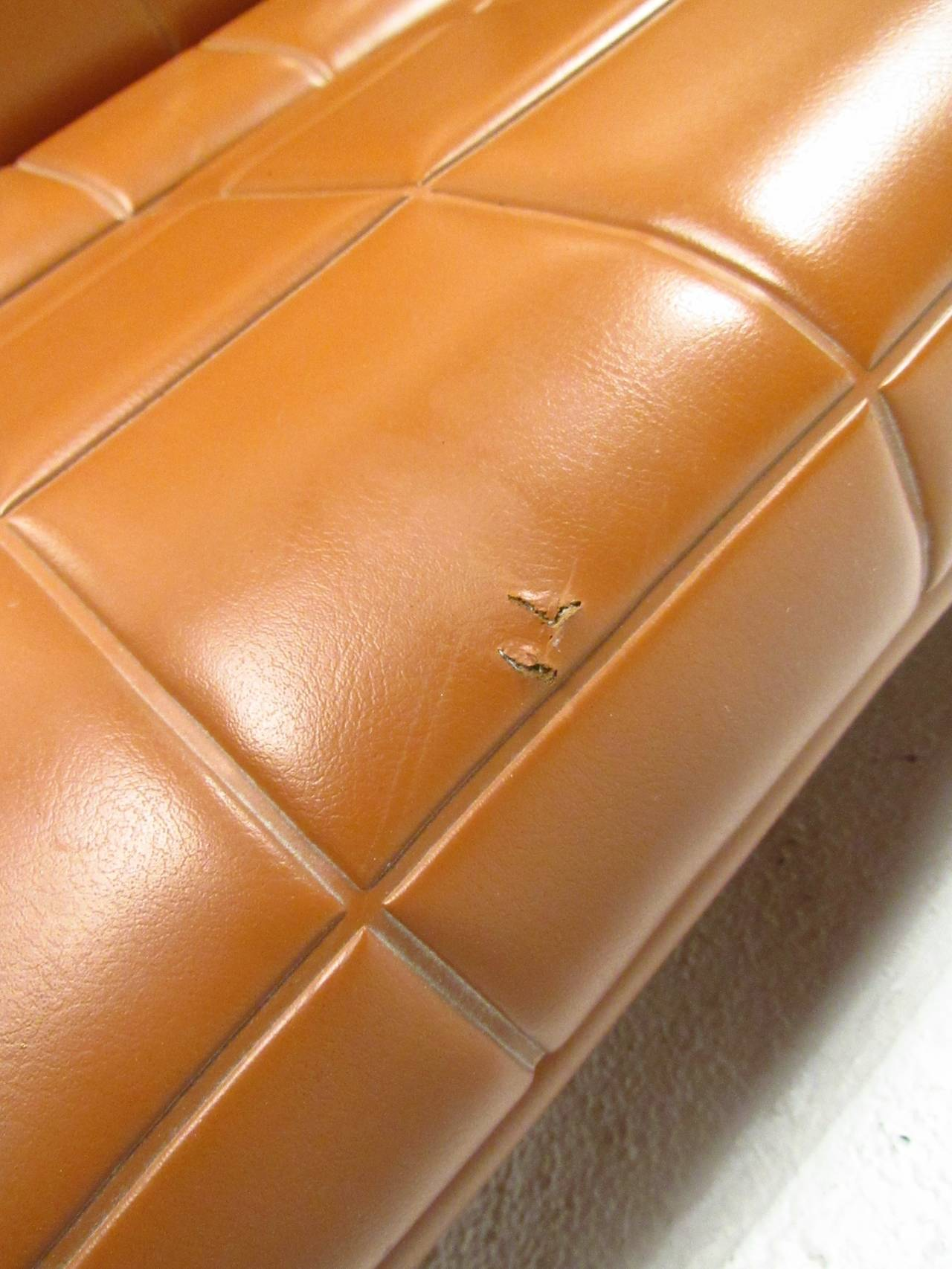 Mid-Century Modern Milo Baughman Style Three-Seat Sofa For Sale 2