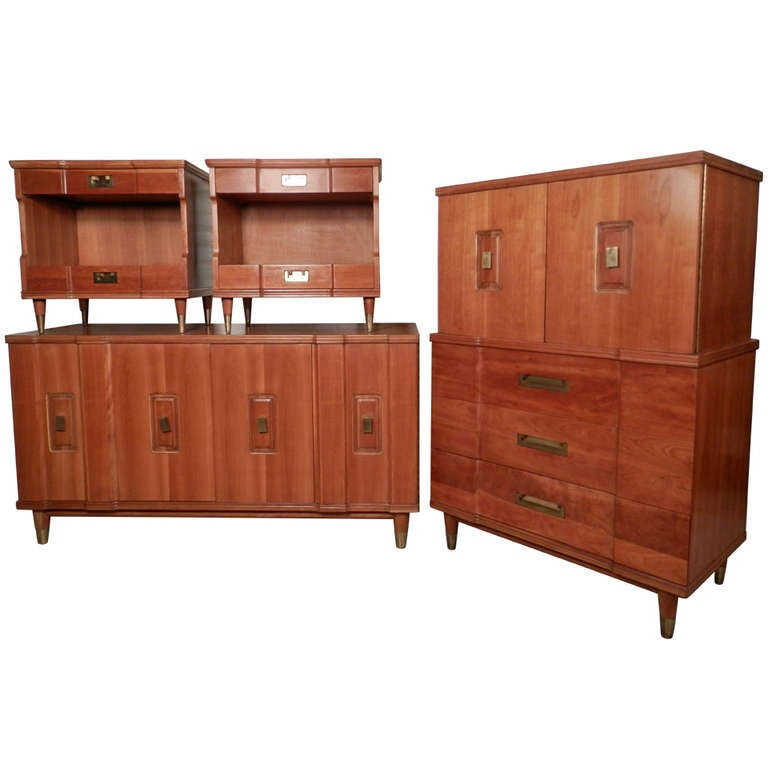 John widdicomb mid century modern bedroom set for sale at - Midcentury modern bedroom furniture ...