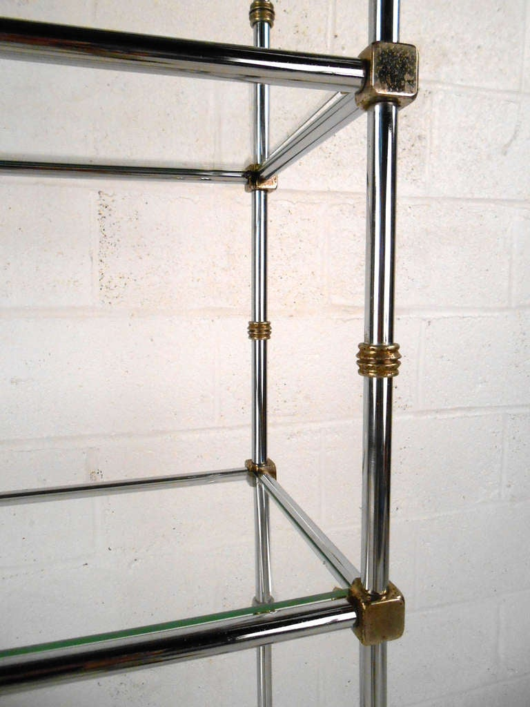 Mid century chrome and glass etagere display for sale at - Etagere 6 cases ...