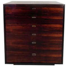 Midcentury Danish Rosewood Six-Drawer Dresser