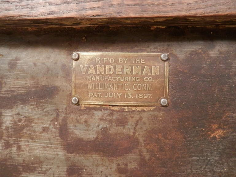 Industrial Metal And Wood Rolling Trunk 7