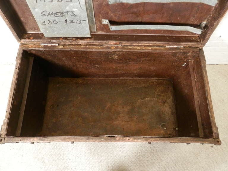 Industrial Metal And Wood Rolling Trunk 9