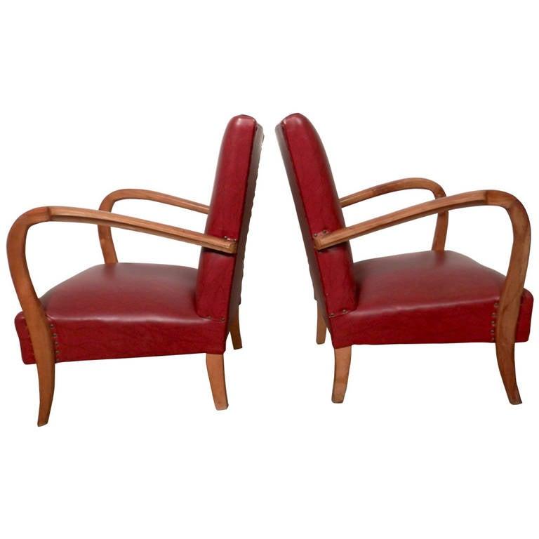 Thonet Style Italian Armchairs