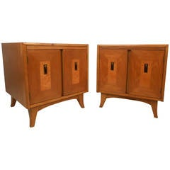 Vintage Modern Walnut Nightstands