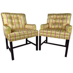 Pair of Vintage Modern Side Chairs after Dunbar