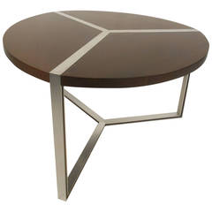 Vintage Modern Circular Dining Table after Milo Baughman