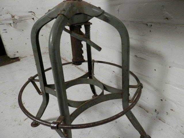 Machine Age Style Adjustable Drafting Stools By Toledo Co