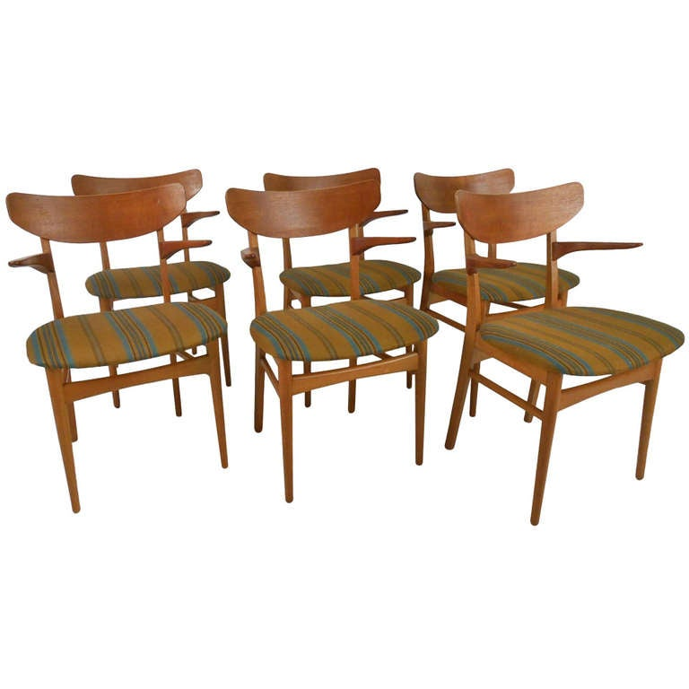 six danish modern dining chairs at 1stdibs