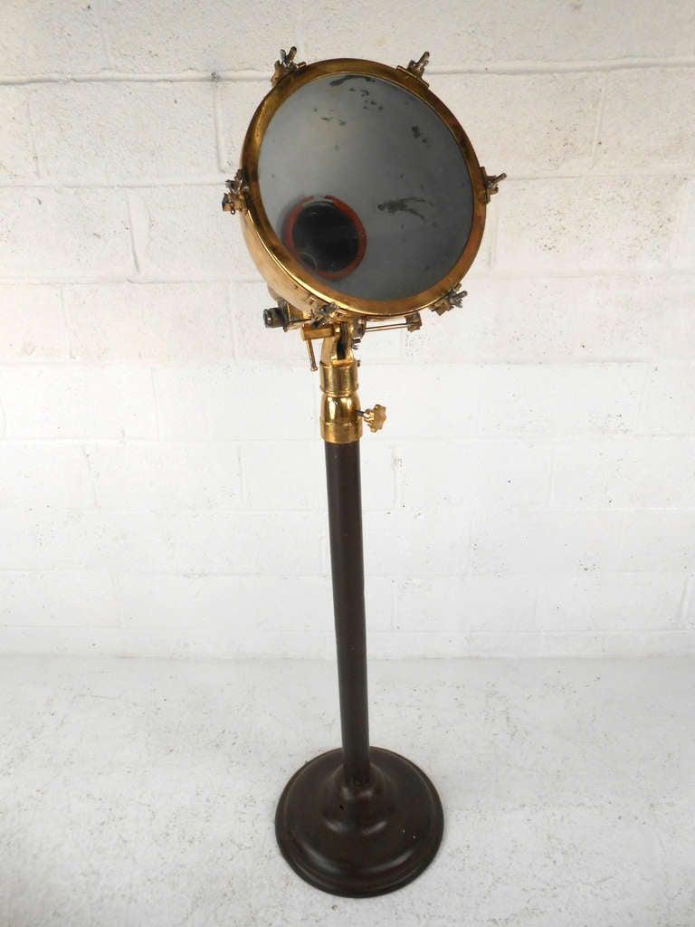 vintage brass industrial spotlight at 1stdibs. Black Bedroom Furniture Sets. Home Design Ideas