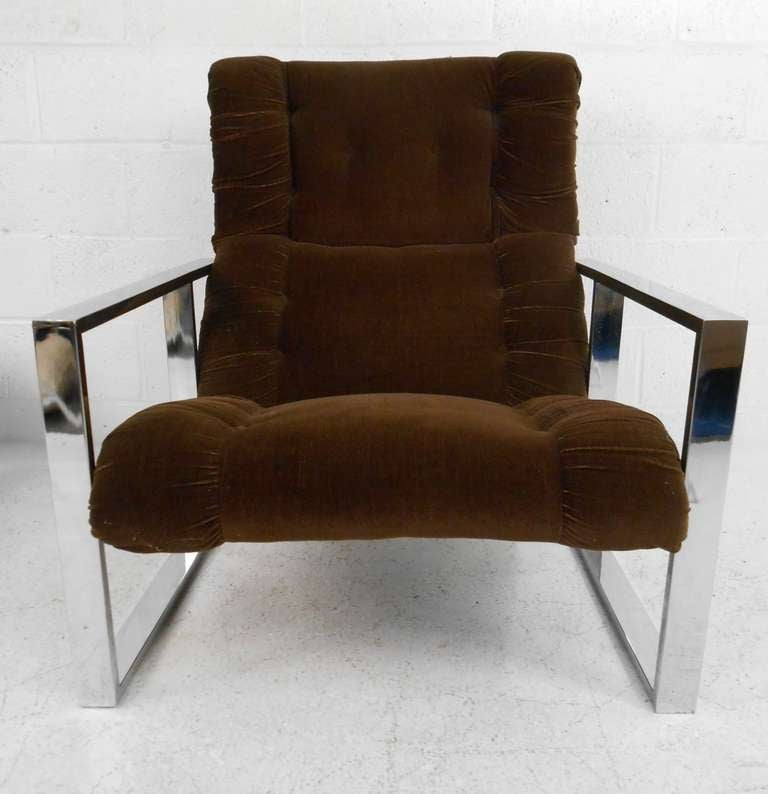 American Vintage Lounge Chair with Ottoman after Milo Baughman For Sale