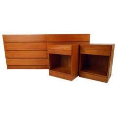 Danish Teak Dresser & Nightstands