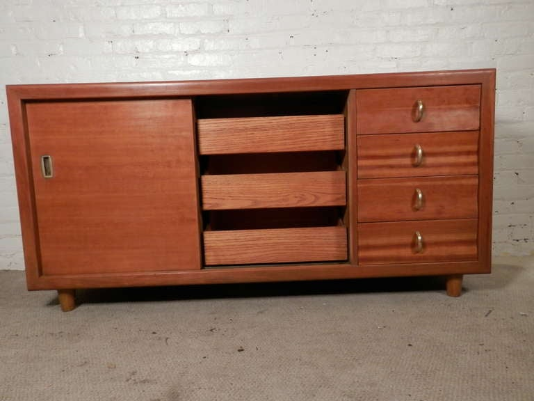John Stuart Labeled Sliding Door Cabinet For Sale 2