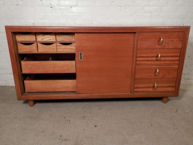 John Stuart Labeled Sliding Door Cabinet For Sale 3