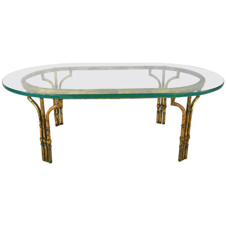 Hollywood Regency Faux Bamboo Coffee Table For Sale At 1stdibs