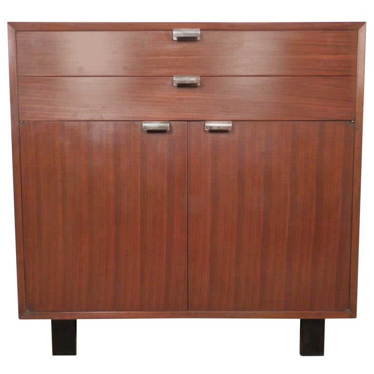 Mid Century American Made Walnut Cabinet George Nelson At 1stdibs