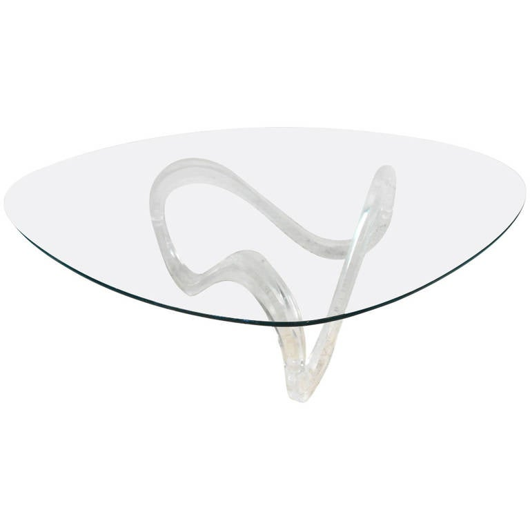 Knut Hesterberg Style Lucite Base Coffee Table