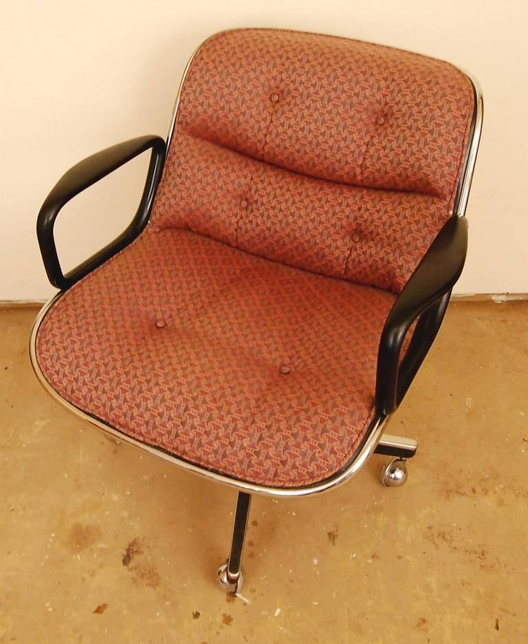 Pair Mid Century Modern Executive Desk Chairs By Charles