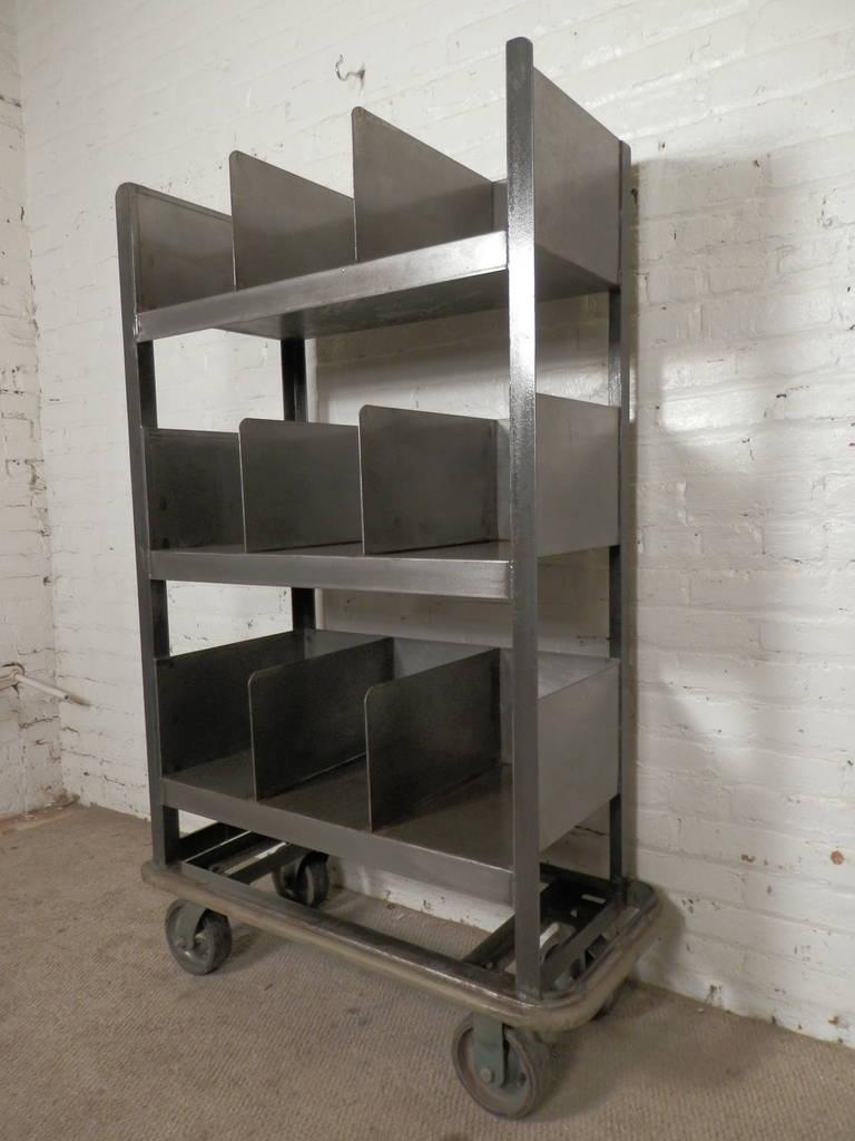 Industrial Metal Storage Cart At 1stdibs