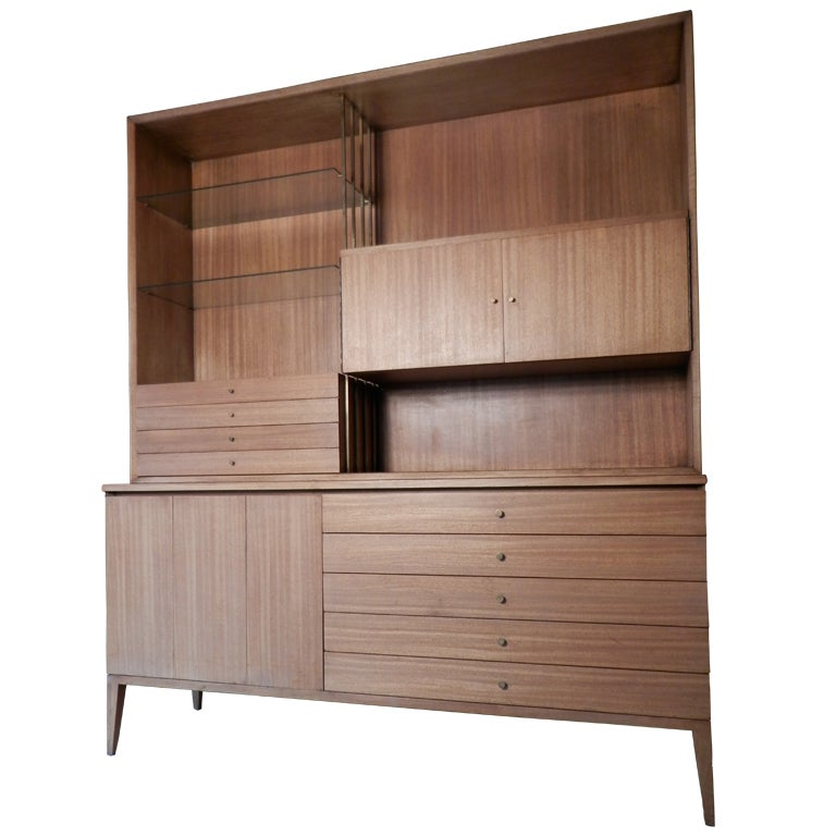 Mid Century Modern Wall Unit By Paul McCobb For The Calvin