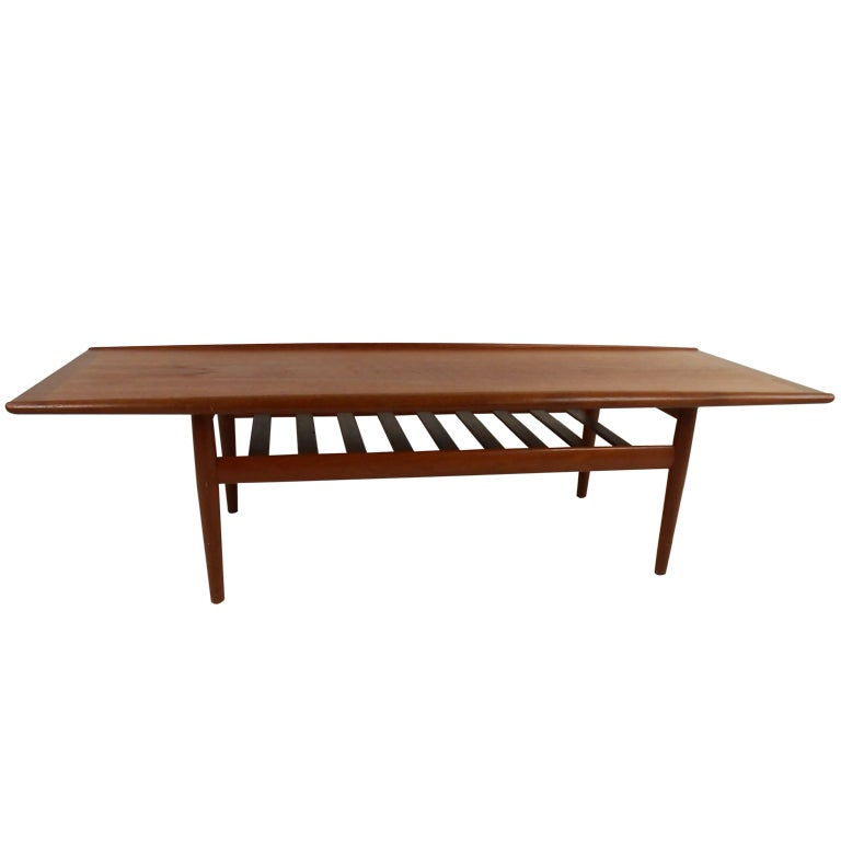 Mid Century Danish Modern Coffee Table For Sale At 1stdibs