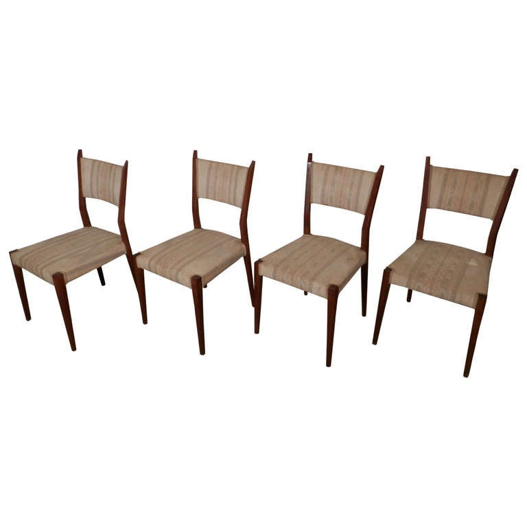 Set of Paul McCobb Angled Back Chairs For Sale at 1stdibs