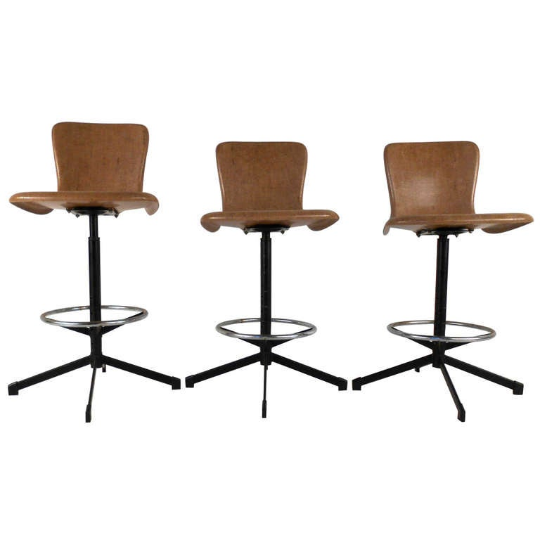 Set of Mid Century Eames Style Swivel Bar Stools : 934532l from 1stdibs.com size 768 x 768 jpeg 28kB