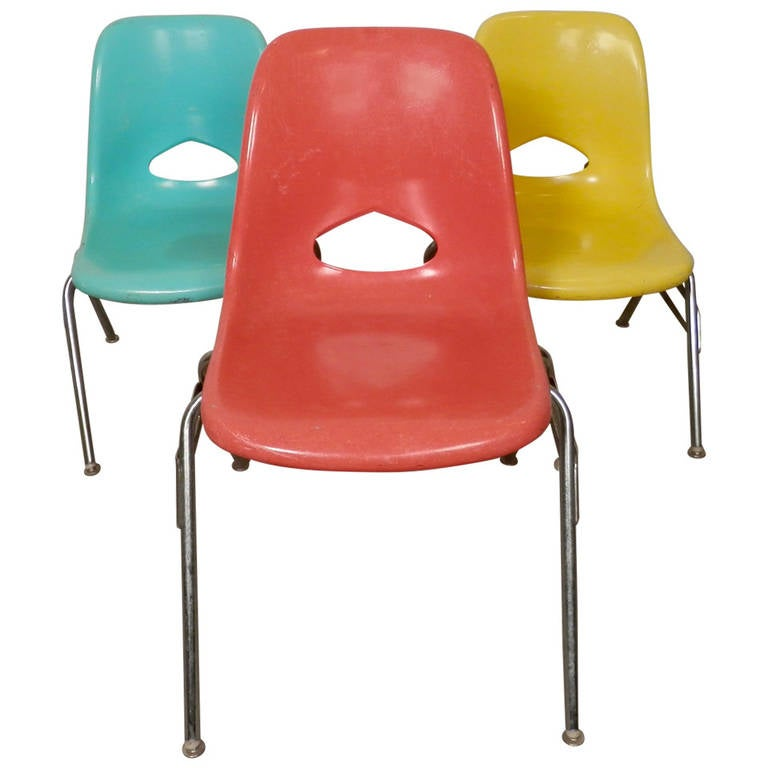 mid century eames style children 39 s chairs at 1stdibs