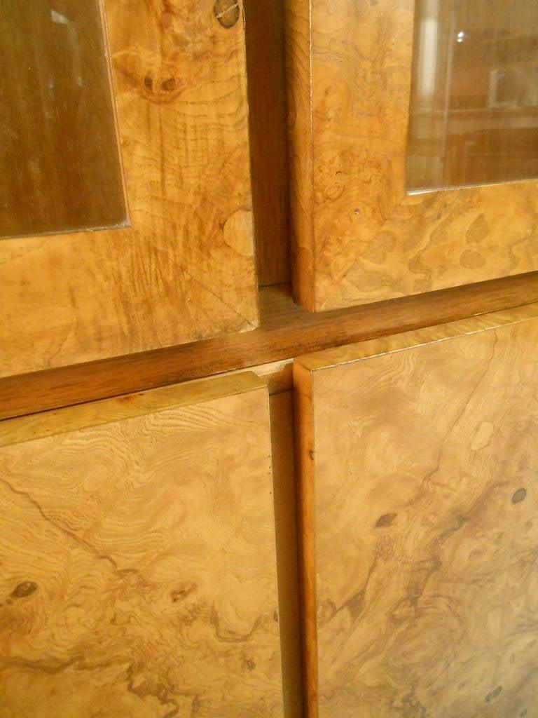 Mid-Century Modern Baughman Style Burlwood Display Cabinet Server for Lane For Sale 1