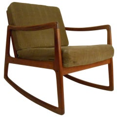 Danish Modern Rocking Chair by France & Daverkosen