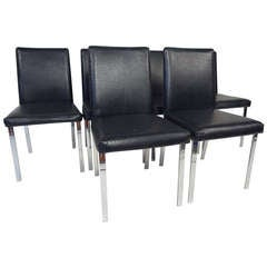 Set of Mid-Century Modern Decorator Style Dining Chairs